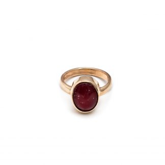 large oval ashes ring