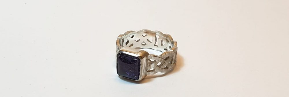 square celtic ring for ashes
