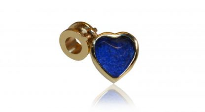 heart charm for ashes in gold