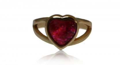 Heart ashes ring in gold