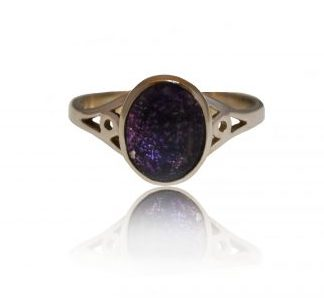 Classic ashes ring in silver
