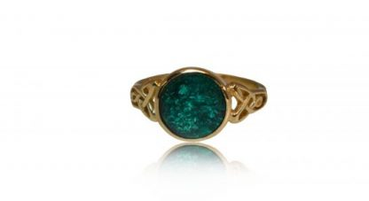 Large Celtic Ashes Ring in Gold