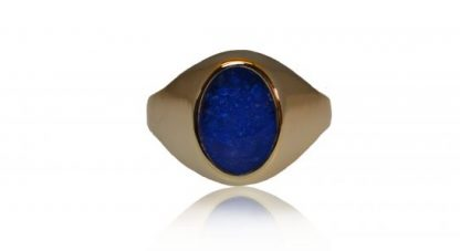 Large classic signet ashes ring in gold