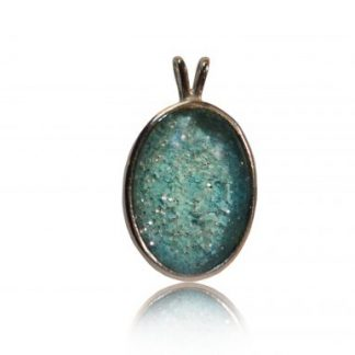 large oval ashes pendant in silver