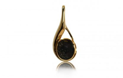 modern ashes pendant in gold