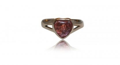 small heart ashes ring in silver