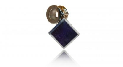 square ashes charm in silver