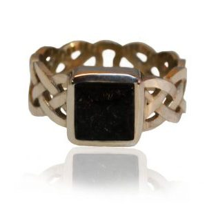 ashes ring - square set celtic